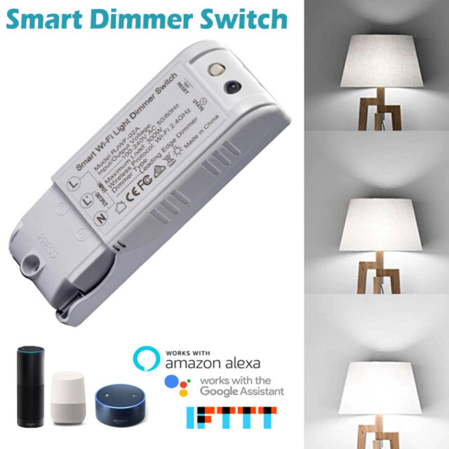Voice Control Wifi Light Dimmer Google Home Alexa