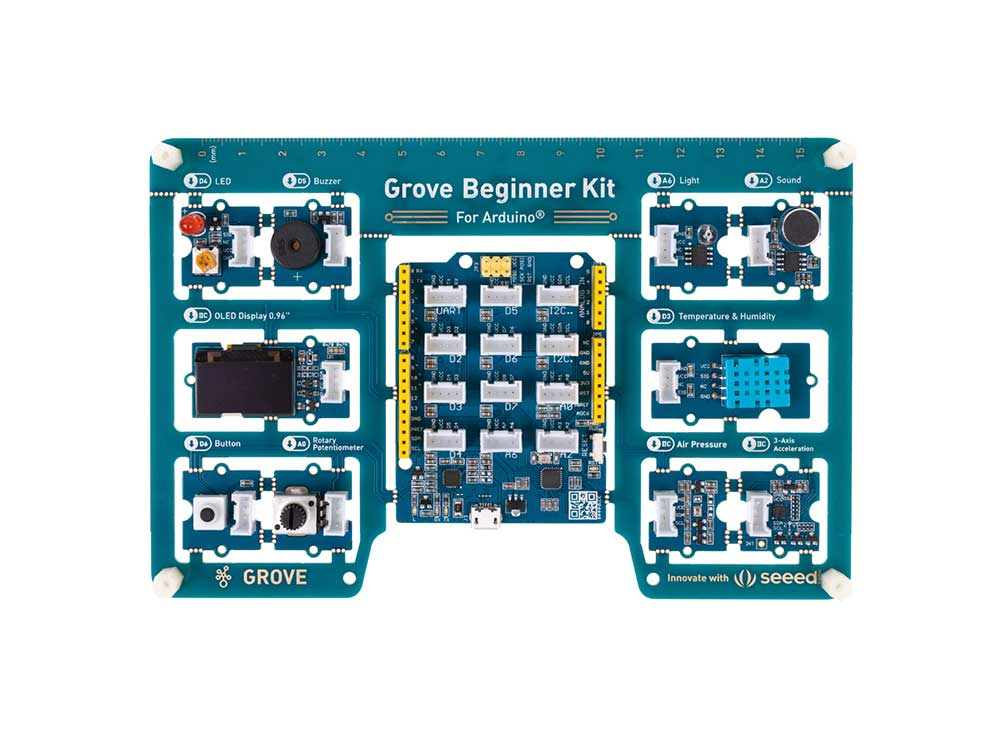 Grove Beginner Kit for Arduino - All-in-one Arduino Compatible Board with 10 Sensors and 12 Projects Robots Cyprus Nicosia Limassol Famagusta Paphos Larnaca front