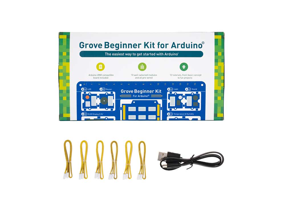 Grove Beginner Kit for Arduino - All-in-one Arduino Compatible Board with 10 Sensors and 12 Projects Robots Cyprus Nicosia Limassol Famagusta Paphos Larnaca box